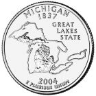 25 центов 2004 - Мичиган (Michigan)