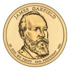 "1 доллар 2011 - 20-й президент ""Джеймс Абрам Гарфилд (James Abram Garfield)"""