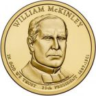 "1 доллар 2013 - 25-й президент ""Уильям Мак-Кинли (William McKinley)"""