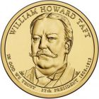 "1 доллар 2013 - 27-й президент ""Уильям Говард Тафт (William Howard Taft)"""